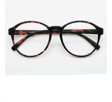 大きい丸いメガネ丸眼鏡ラウンド型レオパード柄めがねフレーム韓国TR90軽い伊達メガネ豹柄メンズ レディース度なし度付きレンズ男女ファッション眼鏡光沢素材ワインレッド色