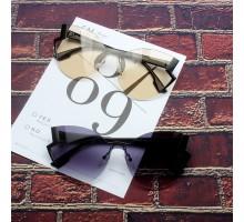 豪華品質リムレス縁なしサングラスおすすめフチなしカラーレンズ人気女性バタフライ型眼鏡女優芸能人スタイルアップ紫外線UVカットレンズめがねグラデーション デザイン上品サングラス大きい