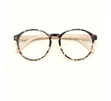大きいフレーム眼鏡伊達メガネ女性痩せ顔効果軽量度付きメガネ度無しレンズ度ありピンク色かわいいべっ甲豹柄ダテメガネ丸顔ラウンド型細いフレームめがねセルフレーム