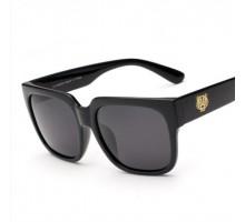 かっこいいサングラス虎おしゃれ太いフレームめがねサングラス黒縁男女ファッション大きいスクエア型偏光レンズ四角形クール韓国芸能人紫外線カット眼鏡ブラック色タイガー