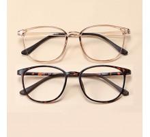 2018流行りトレンドメガネめがねネット通販度付きレンズダテメガネ眼鏡男女学生大人っぽいお揃いクラシカルめがねフレーム度なしレンズ透明鼈甲ピンク軽い眼鏡