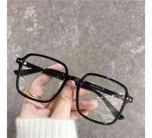 すっぴんメガネ黒縁度付き伊達メガネ大きい顔ビッグフレーム度なし透明パープル色レトロ風ウェリントン型ピンク眼鏡軽量セルフレーム四角形おしゃれスクエアめがねクリア色