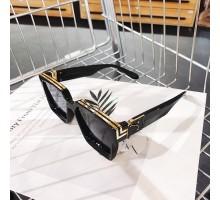 ハリウッド欧米セレブおしゃれサングラス ブランド レトロ スクエア型メガネ太いフレームかっこいいサングラス芸能人大きいめがね四角形サングラス太いUVカットレンズ黒縁ストリート