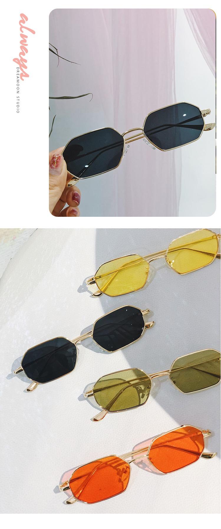 ブランド小さいサングラス有名人スクエア型