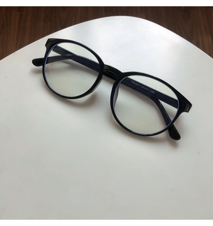 超軽量黒ぶち眼鏡 グレーレンズ伊達メガネ茶色